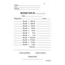 Monetar A6 Autocopiativ
